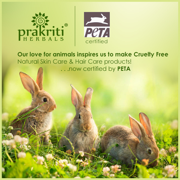 PRAKRITI HERBALS CRUELTY FREE NATURAL PRODUCTS ARE NOW PETA CERTIFIED!!