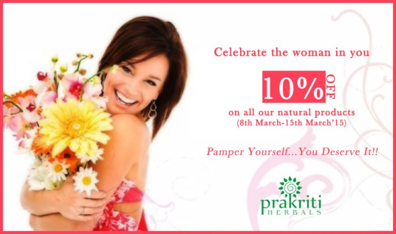 Offer for Women's week- Celebrate the Woman in You!!